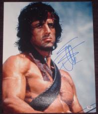 SYLVESTER STALLONE Signed 16 x 20 RAMBO PHOTO with PSA COA