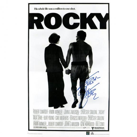 Sylvester Stallone Signed 24x36 Rocky Poster (Authentic Signings Auth)