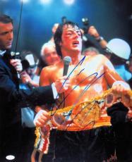 Sylvester Stallone Signed Autographed 11X14 Photo Rocky After Fight JSA Z47223