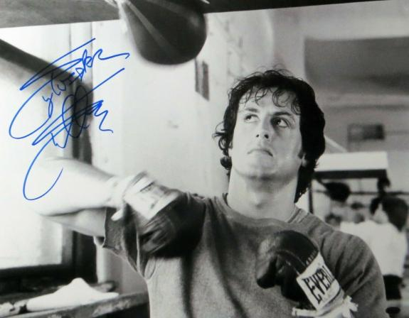 Sylvester Stallone Signed Autographed 16X20 Photo Rocky B/W Speedbag OA