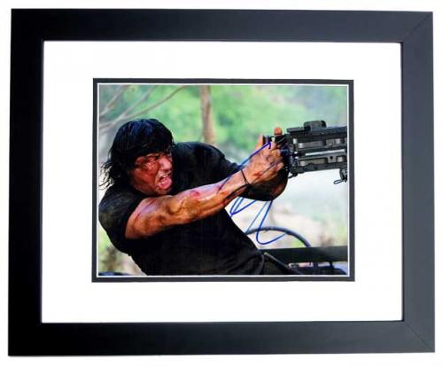 Sylvester Stallone Signed - Autographed RAMBO 8x10 inch Photo - BLACK CUSTOM FRAME - Guaranteed to pass PSA or JSA