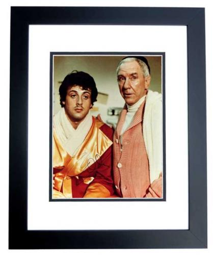 Sylvester Stallone Signed - Autographed ROCKY 8x10 inch Photo - BLACK CUSTOM FRAME - Guaranteed to pass PSA or JSA