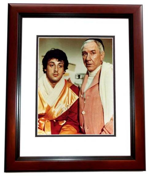Sylvester Stallone Signed - Autographed ROCKY 8x10 inch Photo - MAHOGANY CUSTOM FRAME - Guaranteed to pass PSA or JSA