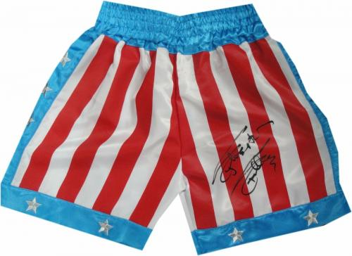 Sylvester Stallone Signed Autographed USA Boxing Shorts Trunks Rocky OA 8420253