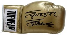 Sylvester Stallone Signed Gold Tuf Wear Right Handed Boxing Glove