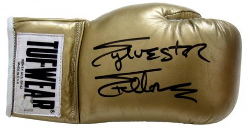 Sylvester Stallone Signed Gold Tuff Wear Right Handed Boxing Glove