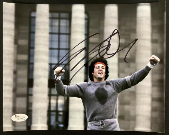 Sylvester Stallone Signed Photo 8x10 Rocky Autograph First Blood Rambo Actor JSA