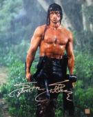 Sylvester Stallone Signed RAMBO II 16x20 Photo
