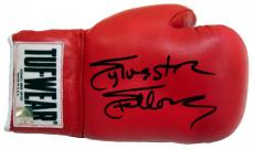 Sylvester Stallone Signed Red Tuf Wear Right Handed Boxing Glove