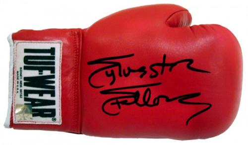 Sylvester Stallone Signed Red ROCKY IV Tuf Wear Right Handed Boxing Glove
