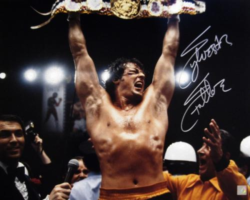 "Sylvester Stallone Signed ROCKY 16x20 Photo ""YO ADRIAN I DID IT"