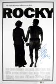 Sylvester Stallone Signed ROCKY 24x36 Movie Poster
