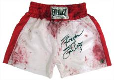 Sylvester Stallone Signed ROCKY Blood Boxing Trunks