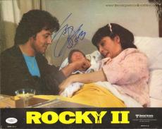 SYLVESTER STALLONE signed Rocky II Original Lobby Card-JSA X36210