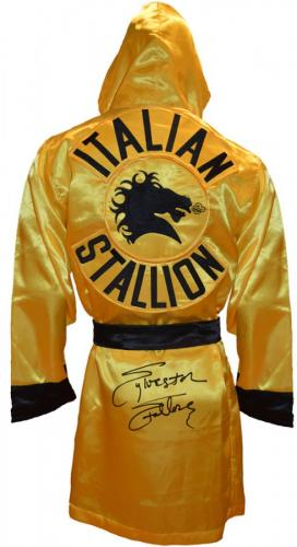 Sylvester Stallone Signed ROCKY III Italian Stallion Boxing Robe