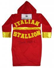 Sylvester Stallone Signed ROCKY Italian Stallion Shamrock Meats Boxing Robe