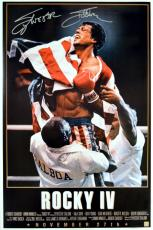 Sylvester Stallone Signed ROCKY IV 24x36 Movie Poster