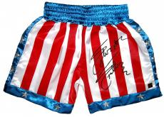 Sylvester Stallone Signed ROCKY IV Boxing Trunks