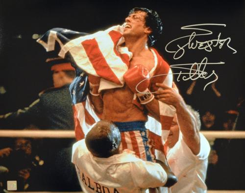 Sylvester Stallone Signed ROCKY IV Celebration 16x20 Photo