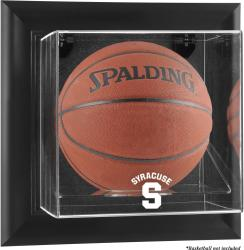 Syracuse Orange Black Framed (2015-Present Logo) Wall-Mountable Basketball Display Case