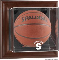 Syracuse Orange Brown Framed (2015-Present Logo) Wall-Mountable Basketball Display Case