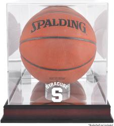 Syracuse Orange Mahogany Antique Finish (2015-Present Logo) Basketball Display Case with Mirror Back