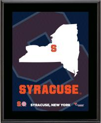 "Syracuse Orange Sublimated 10.5"" x 13"" State Plaque"