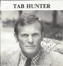 Tab Hunter Signed 8x8 Photo Grease 2 Lust in the Dust
