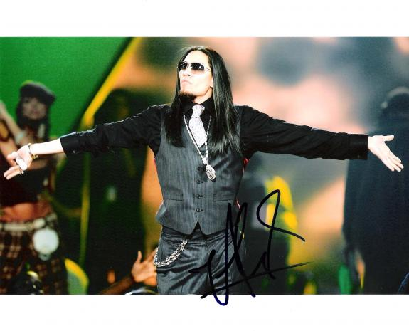 "TABOO ""THE BLACK EYED PEAS"" Signed 10x8 Color Photo"