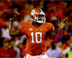 Tajh Boyd Clemson Tigers Autographed 16'' x 20'' Horizontal Passing Photograph