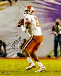 Tajh Boyd Clemson Tigers Autographed 16'' x 20'' Orange Bowl Drop Back Pass Photograph