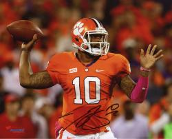 Tajh Boyd Clemson Tigers Autographed 8'' x 10'' Horizontal Passing Photograph