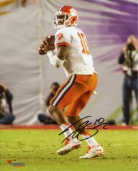 Tajh Boyd Clemson Tigers Autographed 8'' x 10'' Orange Bowl Drop Back Pass Photograph
