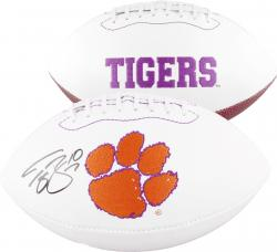 Tajh Boyd Clemson Tigers Autographed White Panel Football