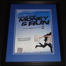 Take the Money & Run 2011 11x14 ORIGINAL Vintage Advertisement ABC