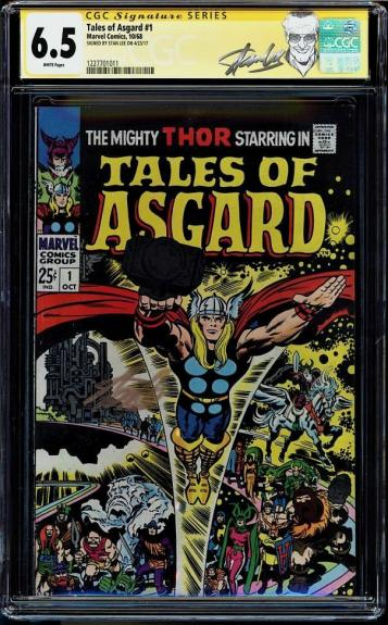 Tales Of Asgard #1 Cgc 6.5 White Ss Stan Lee Signed Thor Cover Cgc #1227701011