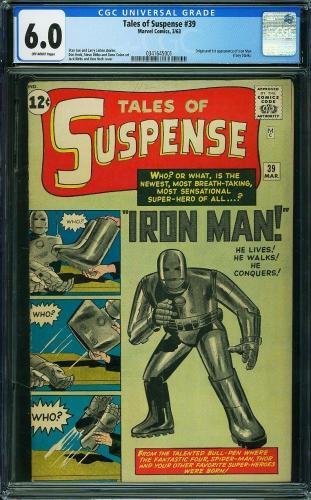 Tales Of Suspense #39 Cgc 6.0 Origin And 1st App Of Iron Man  Cgc #0341645001
