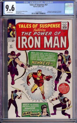 Tales Of Suspense #57 Cgc 9.6 1st App And Origin Of Hawkeye #1212459025