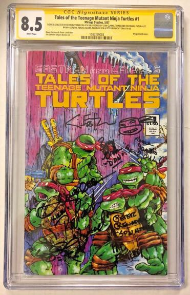 Tales Of The Tmnt #1 Cast Signed Comic Eastman Clarke Cgc Sig Series Auto 8.5 A