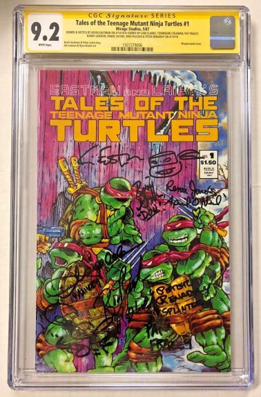 Tales Of The Tmnt #1 Cast Signed Comic Eastman Clarke Cgc Sig Series Auto 9.2 D