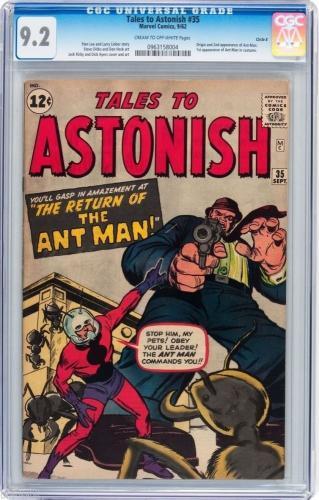 Tales To Astonish # 35 Cgc 9.2 Origin & 1st App Ant Man In Costume # 0963158004