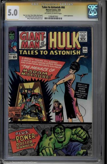 Tales To Astonish #66 Cgc 5.0 Oww Stan Lee Ss Leader App #1206487002