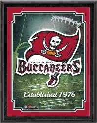 "Tampa Bay Buccaneers Team Logo Sublimated 10.5"" x 13"" Plaque - Mounted Memories"