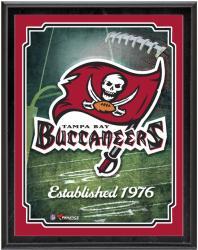 "Tampa Bay Buccaneers Team Logo Sublimated 10.5"" x 13"" Plaque"