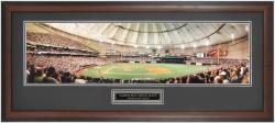 Tampa Bay Rays Opening Day at Tropicana Field Framed Unsigned Panoramic Photograph with Suede Matte