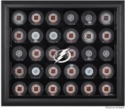 Tampa Bay Lightning 30-Puck Black Display Case