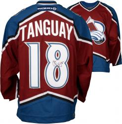 Colorado Avalanche Alex Tanguay Autographed Jersey - Mounted Memories