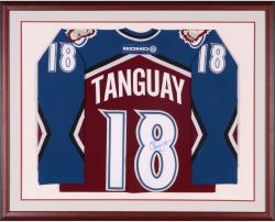 Alex Tanguay Autographed Avalanche Framed Jersey