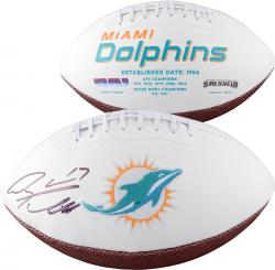 Ryan Tannehill Miami Dolphins Autographed White Panel Football - Mounted Memories