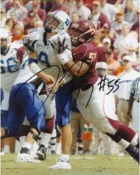 Darryl Tapp Autographed Virginia Tech 8x10 Photo